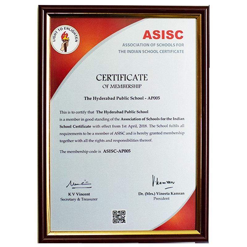 ASISC Certificate