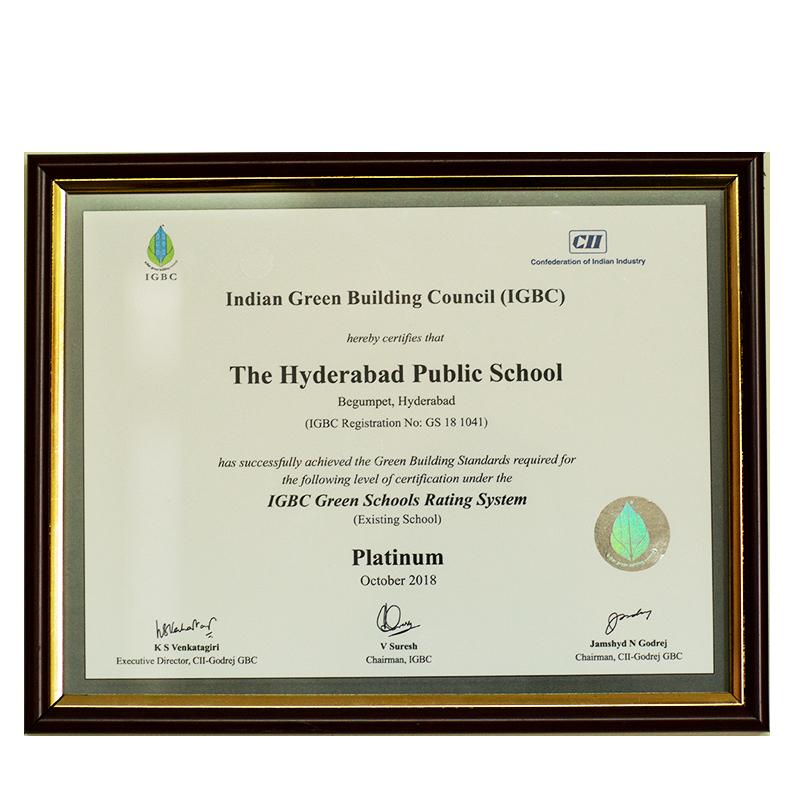 IGBC Green Schools Platinum 2018