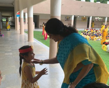 12.Vice principal Mrs Amritha Chandra with little ones